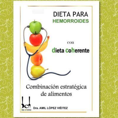 ebook alimentación recomendada para las hemorroides. Incluye menús para 4 semanas